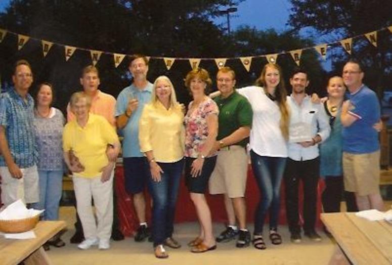 Bob Roberts and family