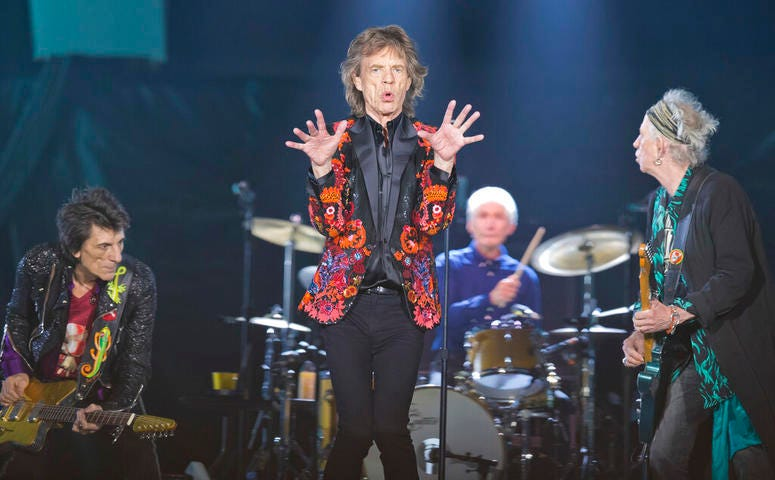 onnie Wood, Mick Jagger, Charlie Watts and Keith Richards of the Rolling Stones