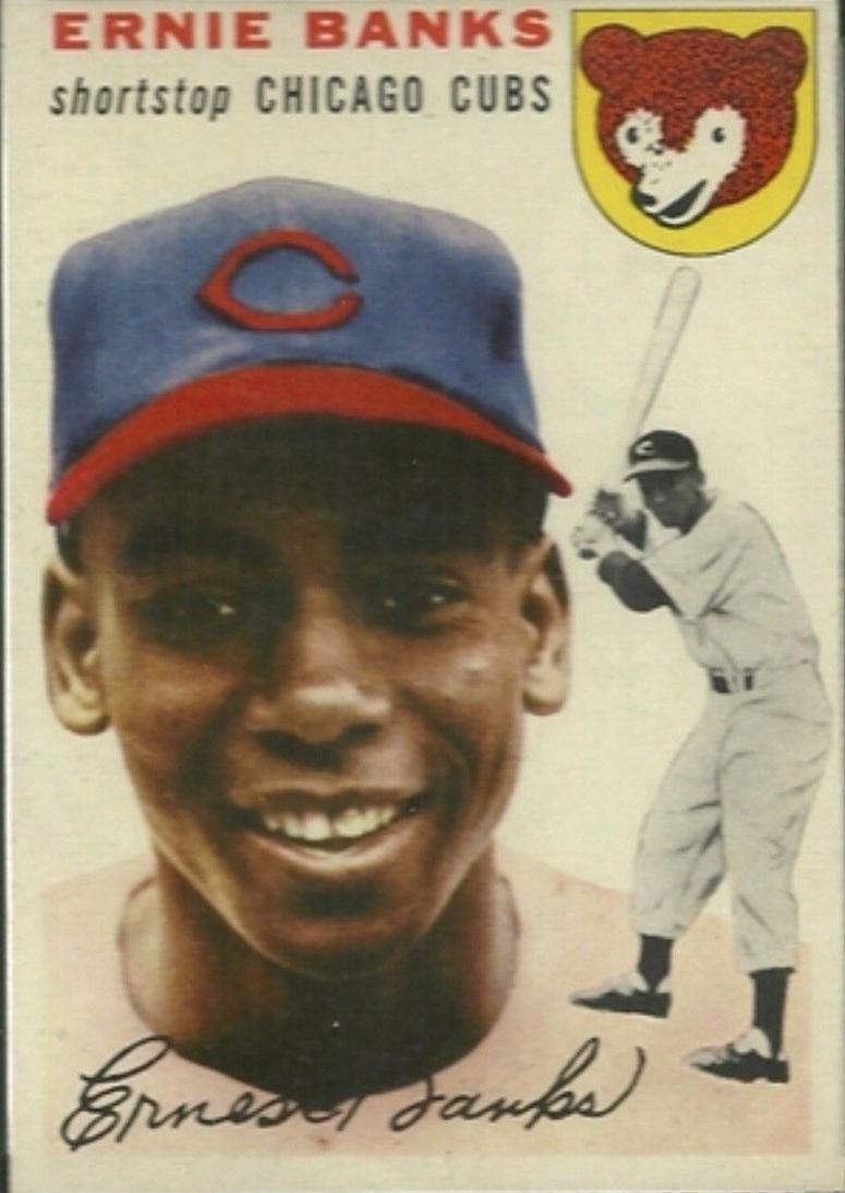 Ernie Banks Topps Card