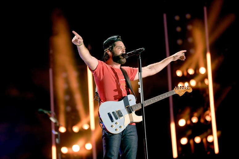 Thomas Rhett performs on stage during day 2 for the 2019 CMA Music Festival on June 07, 2019 in Nashville, Tennessee.