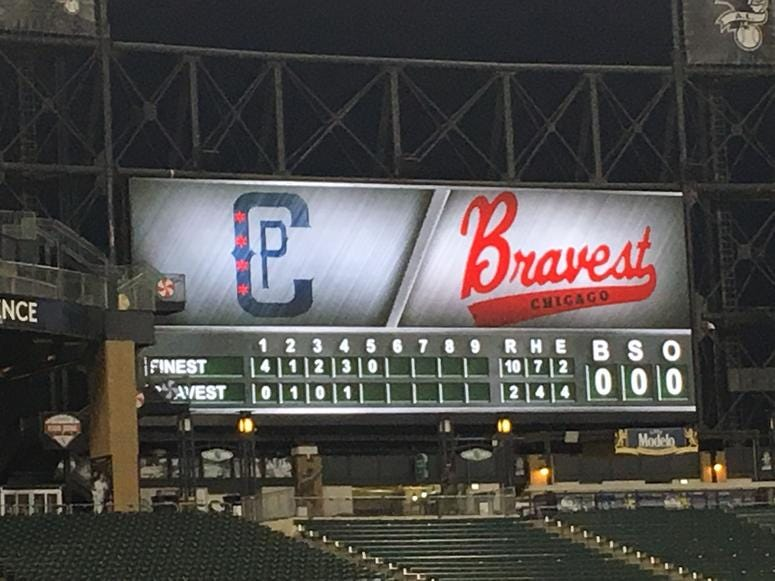 CPD, CFD Take Part In 20th Annual Charity Baseball Game