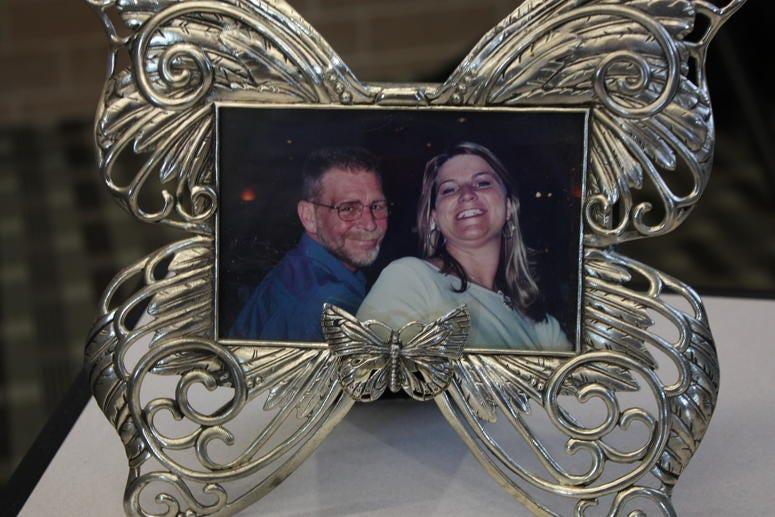 Charlene Sligting-Yorke and her father, John