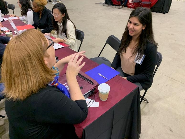 Two-hundredcolleges and universities were on hand at Navy Pier interviewing seniors as part of the annual On-Site Admissions Forum.