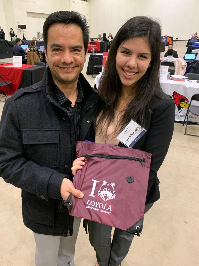 Nancy Herrejon, 18, is a senior at Lyons Township High School. On Tuesday afternoon, she learned she was accepted into her number one choice, Loyola University.