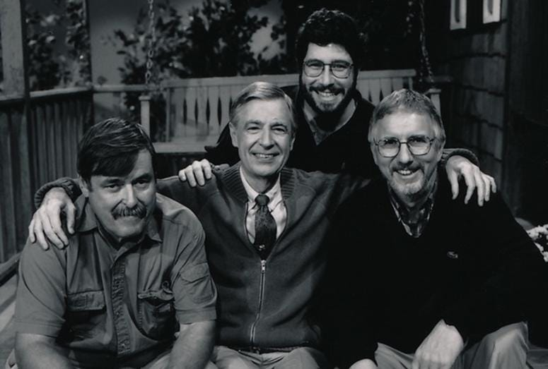 Michael Moricz with Fred Rogers