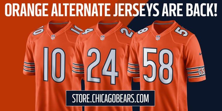 super popular 8338e 05b8c Chicago Bears Orange Jerseys | WBBM-AM