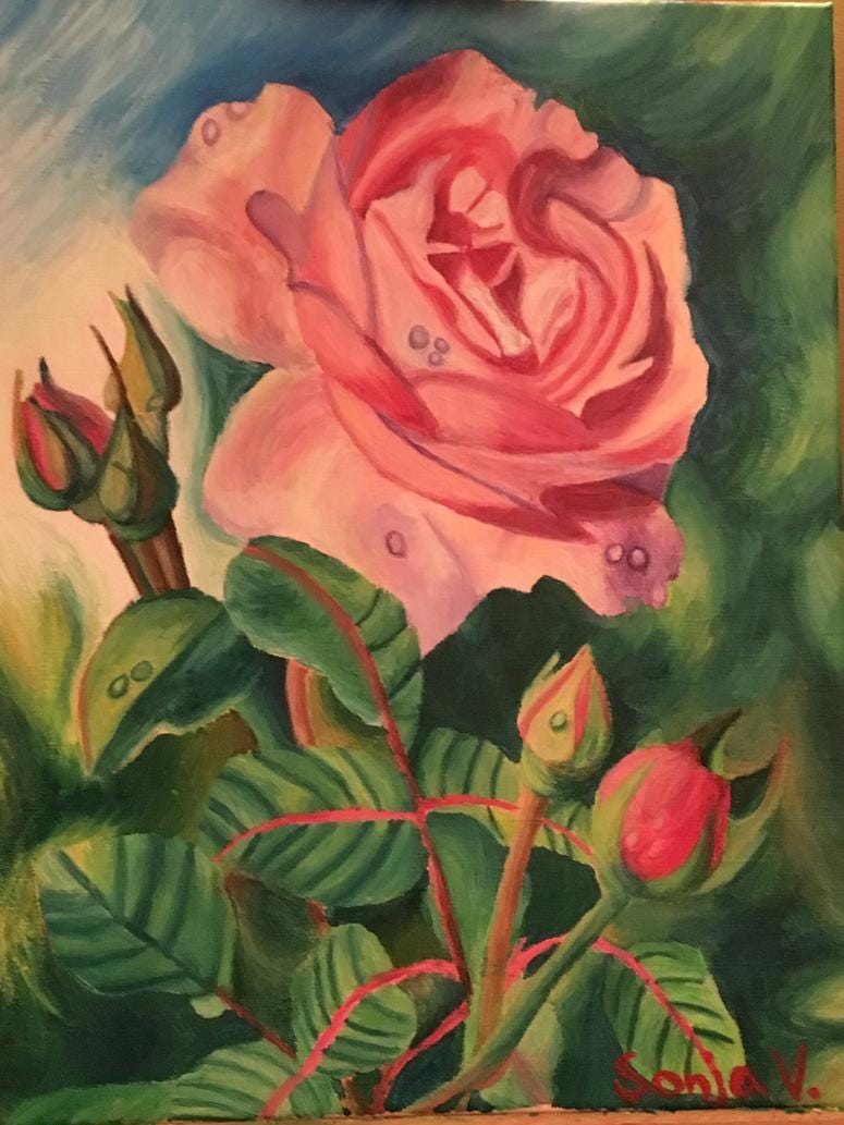 Newsmaker Making A Difference: Sonja Vukajlovic Painting Example