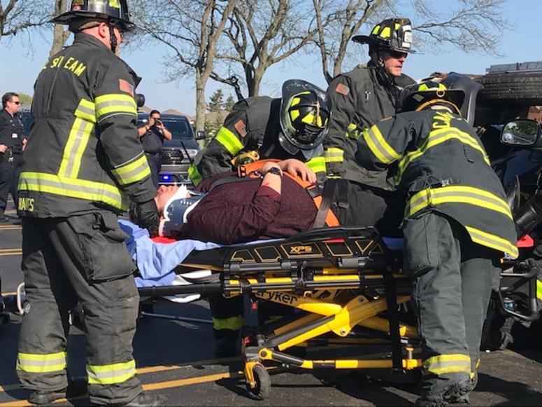 """Fatal Prom"" crash scenario at Glenbard North High School."