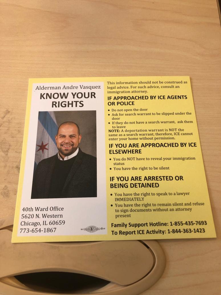 "40th Ward ""ICEbreaker"" card"