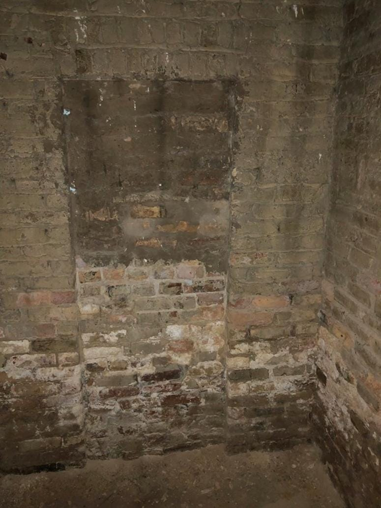 """The latest """"secret"""" has to do with a bricked over doorway found in the basement in November."""