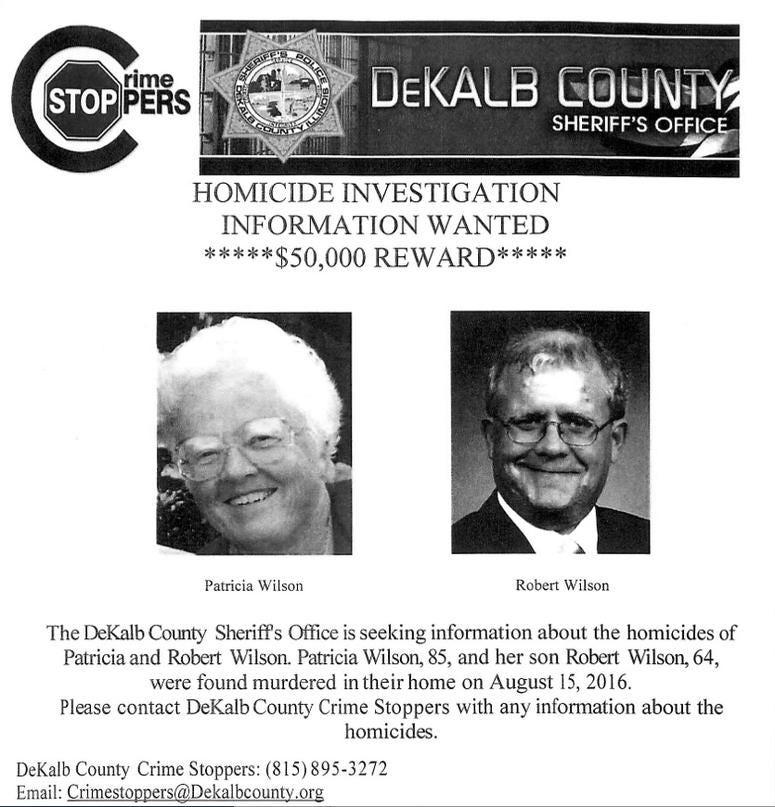Sycamore Double-Murder reward flyer