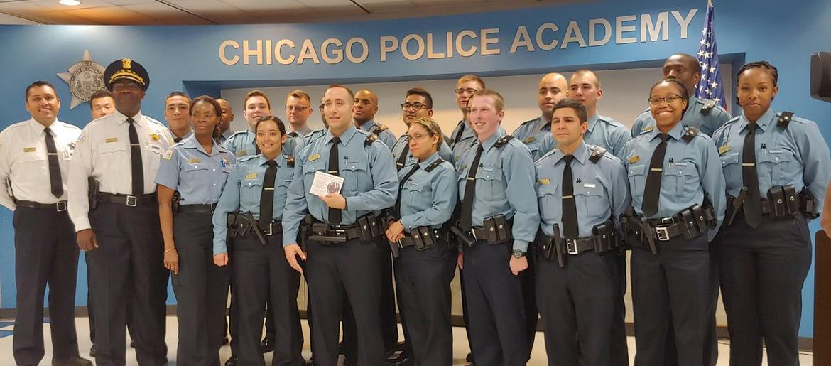 CPD Honors Recruit For Helping Save Man's Life While Off