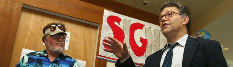 Al Franken Re-Emerges On The Speaking Circuit