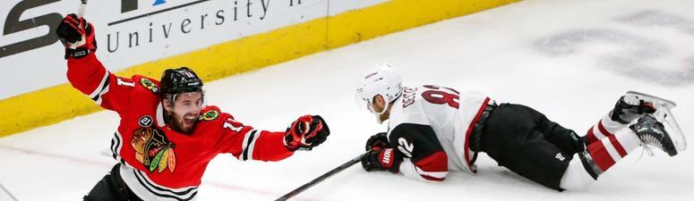 Perlini Gets Hat Trick As Blackhawks Beat Coyotes