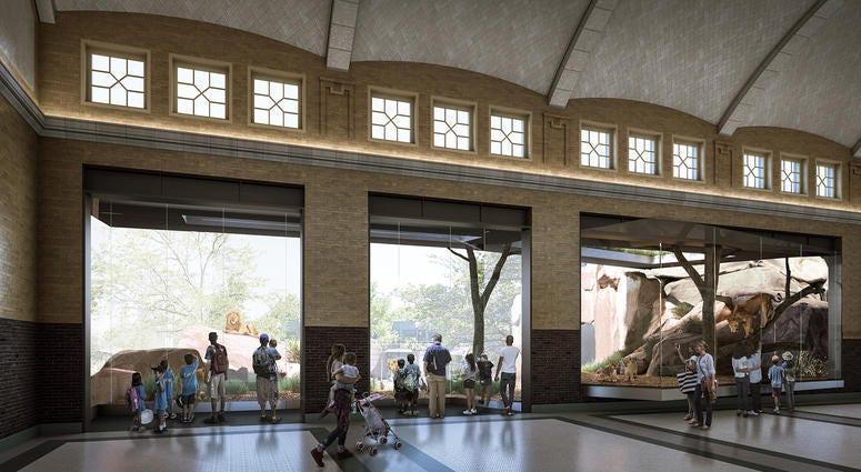 Kovler Lion House rendering - Lincoln Park Zoo