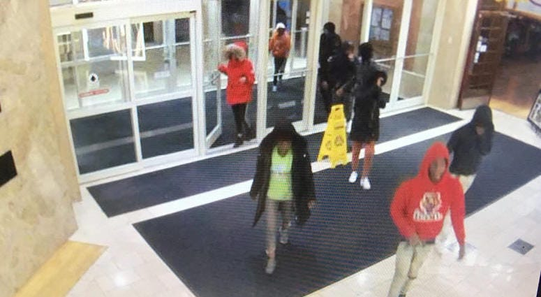 Authorities released surveillance photos of a group of people wanted in connection with purse thefts Oct. 16, 2019, at Northbrook Court, 1515 Lake Cook Road in Northbrook