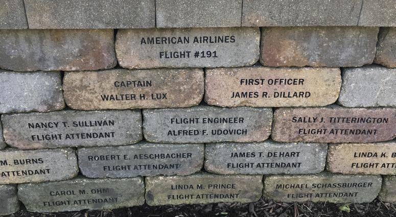 A memorial to Flight 191