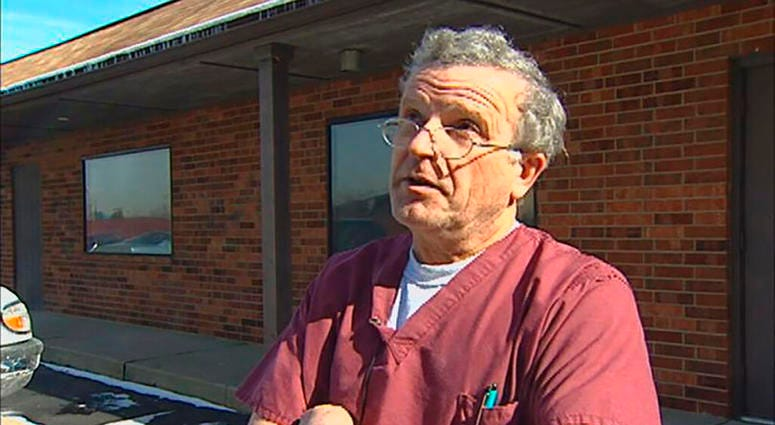 This image made from a Dec. 1, 2015, video provided by WNDU-TV shows Ulrich Klopfer in South Bend, Ind. More than 2,200 medically preserved fetal remains have been found at the Illinois home of the former Indiana abortion clinic doctor who died last week.
