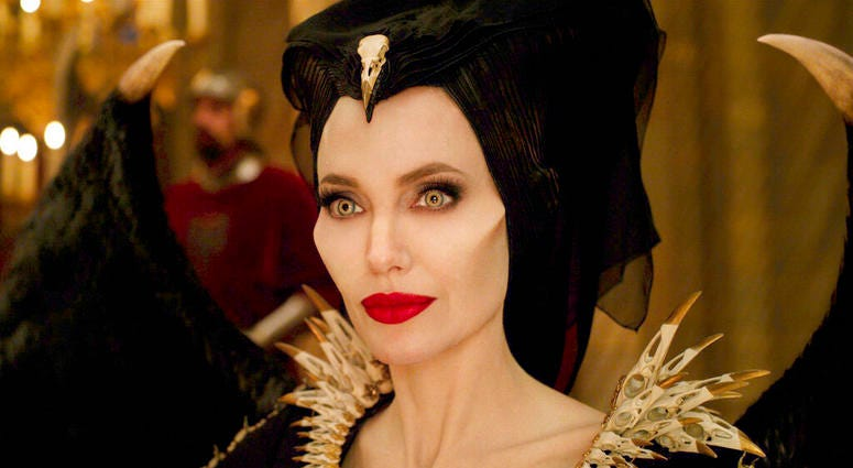 """This image released by Disney shows Angelina Jolie as Maleficent in a scene from """"Maleficent: Mistress of Evil."""""""