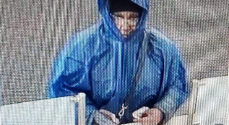 Surveillance image of the suspect in a robbery April 29, 2019, at the Huntington Bank branch at 10240 S. Cicero Ave. in Oak Lawn.
