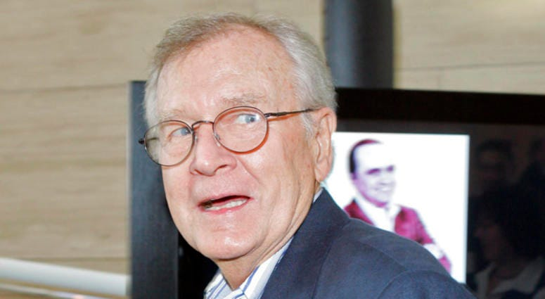 """In a Sept. 5, 2007 file photo, Bill Daily arrives for TV Land's 35th anniversary tribute to """"The Bob Newhart Show,"""" Wednesday, in Beverly Hills, Calif. Bill Daily, the comic sidekick to leading men on the sitcoms """"I Dream of Jeannie"""" and """"The Bob Newhart"""