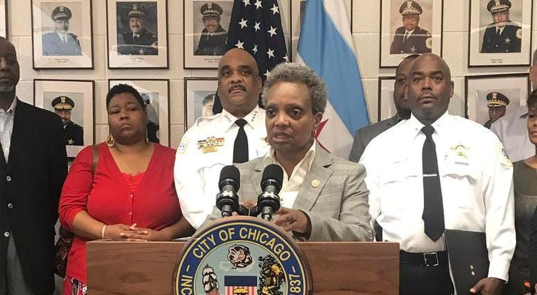 Mayor Lori Lightfoot launches a new community policing initiative aimed at strengthening the relationship between local businesses and communities across Chicago.