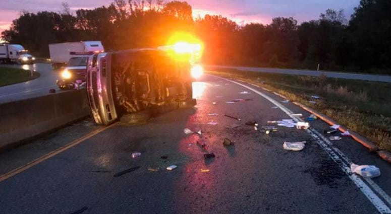 Fatal rollover crash Indiana Toll Road