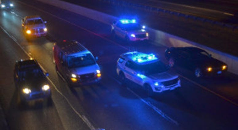 Three vehicles were struck by gunfire about 3:15 a.m. early Saturday morning between 127th and 111th Streets on I-57.