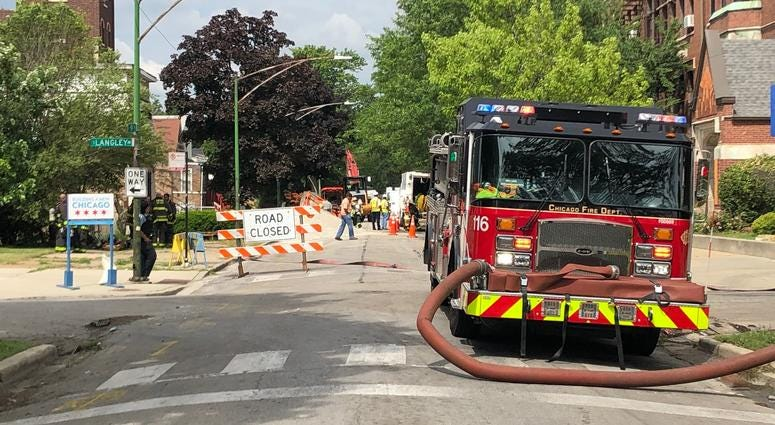 Gas Main Break in Burnside