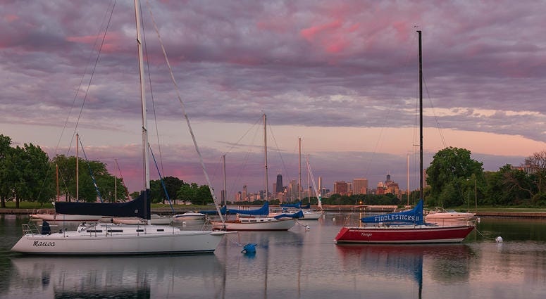 Barry Butler's photograph of Montrose Harbor