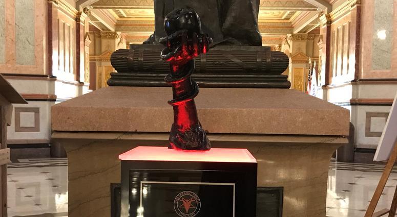 Satanic Holiday Sculpture