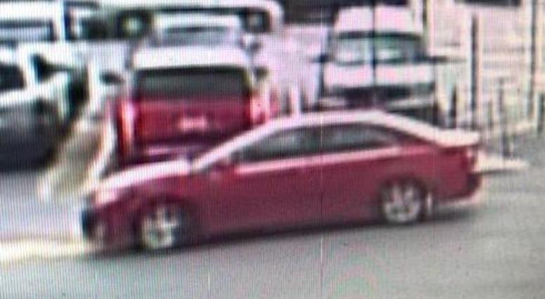 Police say this car was involved in bank robbery at a TCF Bank in Burbank on Oct. 22, 2019.