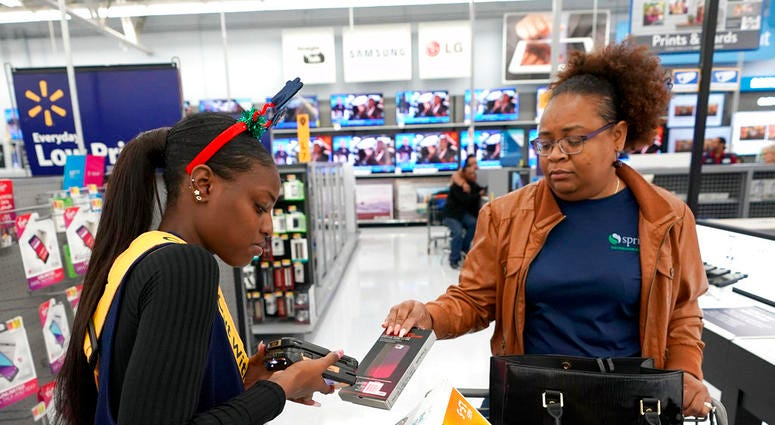 Walmart sales-floor checkout