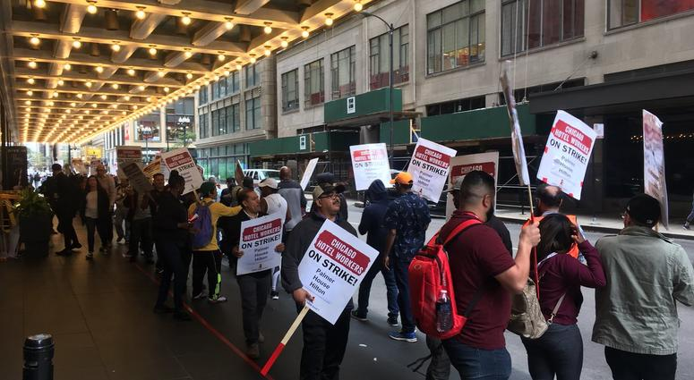 Chicago Hotel Workers Strike In Pursuit Of Better Benefits | WBBM-AM