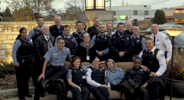 Highland Park Police Take Part In Lip Sync Challenge With