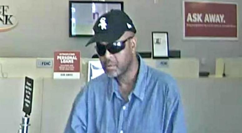 A video surveillance frame shows the suspect in a TCF Bank robbery in Oak Lawn on Oct. 8, 2019.
