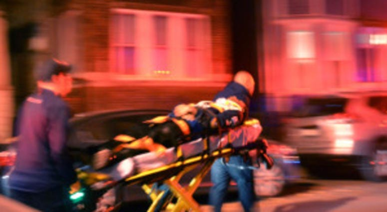 Multiple people were injured during a porch collapse about 2:30 a.m. Saturday, October 27, 2018 in the 2900 block of West Lyndale Avenue in Chicago. | Justin Jackson/ Sun-Times