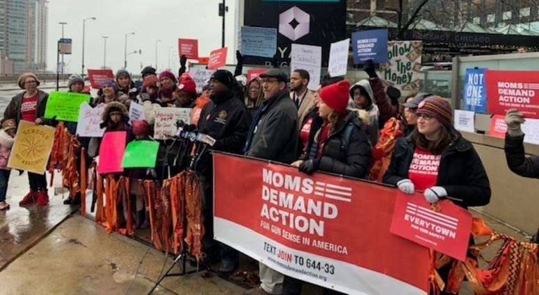 Demonstrators outside vote to arm teachers