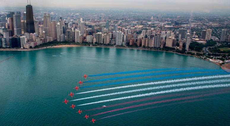 Red Arrows in Chicago