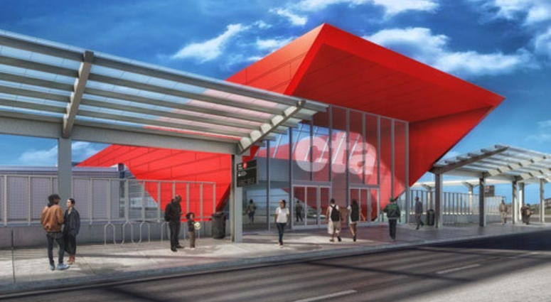 New 95th Red Line Station