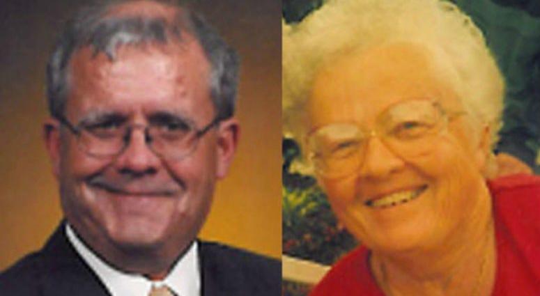 Robert Wilson, left; his mother, Patricia Wilson