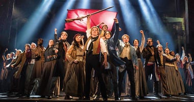"""The company of LES MISÉRABLES performs """"One Day More."""""""