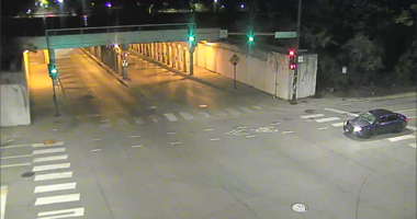 Surveillance image of the Chevrolet Cobalt wanted in a fatal hit-and-run May 16 in the 400 block of East 95th Street.