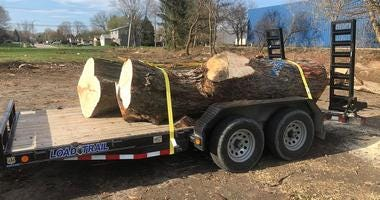 The South Elgin and Countryside Fire Protection District is getting two new fire stations, but construction required cutting down some trees. Now a 19-year veteran of the department is re-purposing some of those trees.