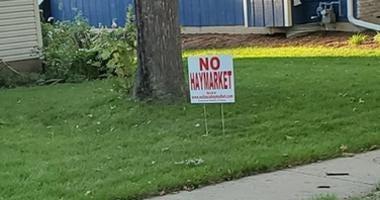 No Haymarket sign
