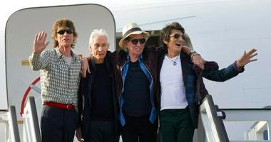 The Rolling Stones, from left, Mick Jagger, Charlie Watts, Keith Richards and Ron Wood