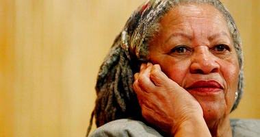 In this Nov. 25, 2005 file photo, author Toni Morrison listens to Mexicos Carlos Monsivais during the Julio Cortazar professorship conference at the Guadalajara's University in Guadalajara City, Mexico.