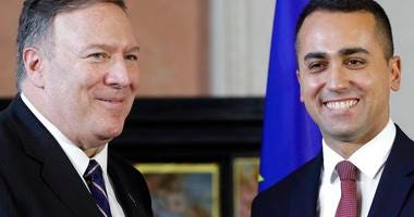 .S. Secretary of State, Mike Pompeo and Italian Foreign Minister Luigi Di Maio