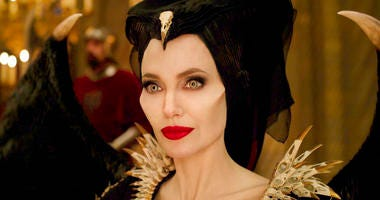 "This image released by Disney shows Angelina Jolie as Maleficent in a scene from ""Maleficent: Mistress of Evil."""