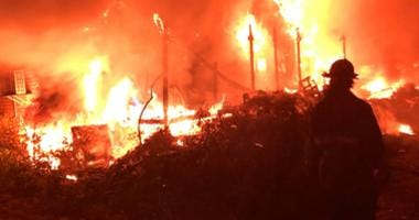 Blue Island junk yard fire